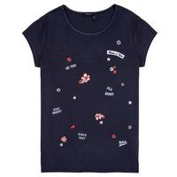 Υφασμάτινα Κορίτσι T-shirt με κοντά μανίκια Ikks POSTALE Marine