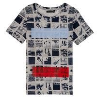 Υφασμάτινα Αγόρι T-shirt με κοντά μανίκια Ikks JULIEN Beige