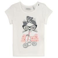 Υφασμάτινα Κορίτσι T-shirt με κοντά μανίκια Ikks MEOLIA Άσπρο