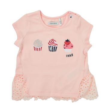 Υφασμάτινα Κορίτσι T-shirt με κοντά μανίκια Ikks DANIA Ροζ