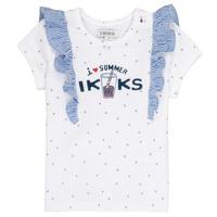 Υφασμάτινα Κορίτσι T-shirt με κοντά μανίκια Ikks HILONA Άσπρο