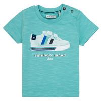 Υφασμάτινα Αγόρι T-shirt με κοντά μανίκια Ikks MARIA Turquoise