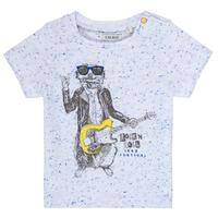 Υφασμάτινα Αγόρι T-shirt με κοντά μανίκια Ikks MARIO Άσπρο