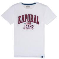 Υφασμάτινα Αγόρι T-shirt με κοντά μανίκια Kaporal ERNIE Άσπρο