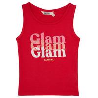 Υφασμάτινα Κορίτσι Αμάνικα / T-shirts χωρίς μανίκια Kaporal JUIN Red