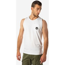 Υφασμάτινα Άνδρας Αμάνικα / T-shirts χωρίς μανίκια Brokers ΑΝΔΡΙΚΟ ΑΜΑΝΙΚΟ T-SHIRT  ΛΕΥΚΟ Λευκό