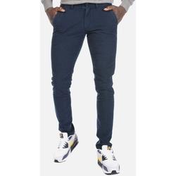 Υφασμάτινα Άνδρας Παντελόνια Chino/Carrot Brokers ΑΝΔΡΙΚΟ ΠΑΝΤΕΛΟΝΙ  NAVY SLIM Μπλε