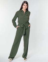 Υφασμάτινα Γυναίκα Ολόσωμες φόρμες / σαλοπέτες MICHAEL Michael Kors ROLL SLV SAFARI JMPST Kaki