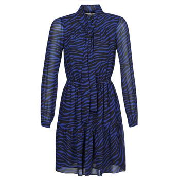 Υφασμάτινα Γυναίκα Κοντά Φορέματα MICHAEL Michael Kors BOLD BENGAL TIER DRS Μπλέ / Black