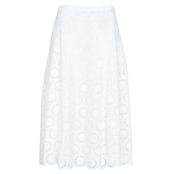 Υφασμάτινα Γυναίκα Φούστες MICHAEL Michael Kors FLORAL EYLT LNG SKIRT Άσπρο