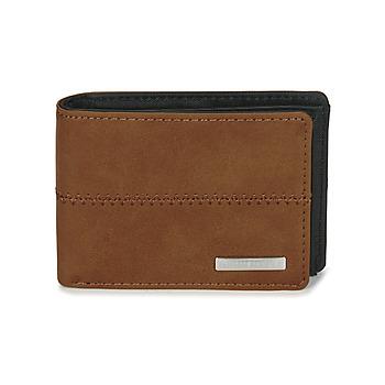 Τσάντες Πορτοφόλια Quiksilver NEW STITCHY WALLET Brown