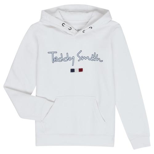 Υφασμάτινα Αγόρι Φούτερ Teddy Smith SEVEN Άσπρο