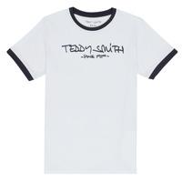 Υφασμάτινα Αγόρι T-shirt με κοντά μανίκια Teddy Smith TICLASS 3 Άσπρο