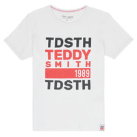 Υφασμάτινα Αγόρι T-shirt με κοντά μανίκια Teddy Smith DUSTIN Άσπρο