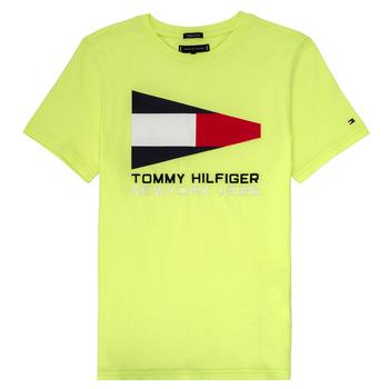 Υφασμάτινα Αγόρι T-shirt με κοντά μανίκια Tommy Hilfiger KB0KB05628 Yellow