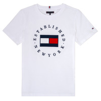 Υφασμάτινα Αγόρι T-shirt με κοντά μανίκια Tommy Hilfiger KB0KB05718 Άσπρο