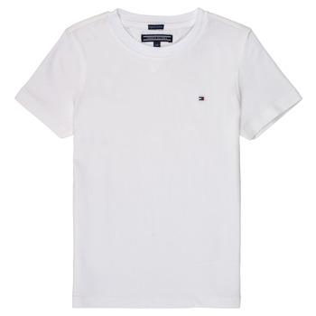 Υφασμάτινα Αγόρι T-shirt με κοντά μανίκια Tommy Hilfiger KB0KB04140 Άσπρο