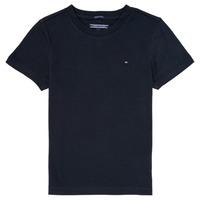 Υφασμάτινα Αγόρι T-shirt με κοντά μανίκια Tommy Hilfiger KB0KB04140 Marine