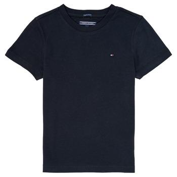 Υφασμάτινα Αγόρι T-shirt με κοντά μανίκια Tommy Hilfiger  Marine