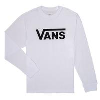 Υφασμάτινα Αγόρι Μπλουζάκια με μακριά μανίκια Vans BY VANS CLASSIC LS Άσπρο