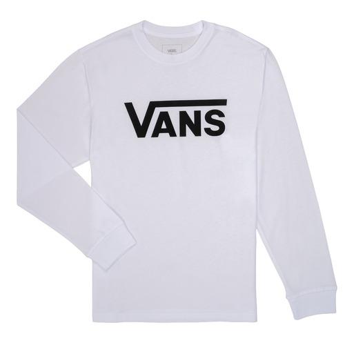 Υφασμάτινα Παιδί Μπλουζάκια με μακριά μανίκια Vans BY VANS CLASSIC LS Άσπρο