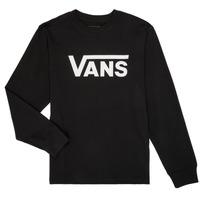 Υφασμάτινα Παιδί Μπλουζάκια με μακριά μανίκια Vans BY VANS CLASSIC LS Black