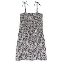 Υφασμάτινα Κορίτσι Κοντά Φορέματα Le Temps des Cerises PUNTA Black / Άσπρο