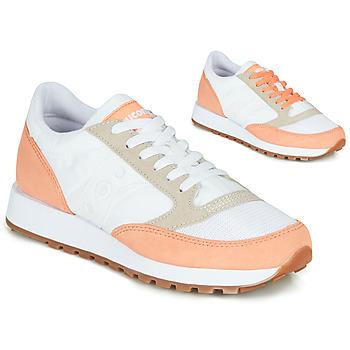 Παπούτσια Γυναίκα Χαμηλά Sneakers Saucony Jazz Vintage Άσπρο / Saumon