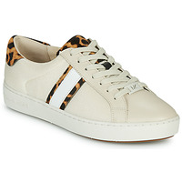 Παπούτσια Γυναίκα Χαμηλά Sneakers MICHAEL Michael Kors IRVING STRIPE LACE UP Ecru / Leopard