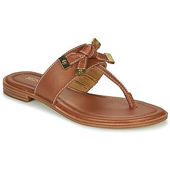 Παπούτσια Γυναίκα Σαγιονάρες MICHAEL Michael Kors RIPLEY THONG Cognac