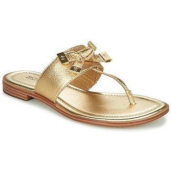 Παπούτσια Γυναίκα Σαγιονάρες MICHAEL Michael Kors RIPLEY THONG Gold