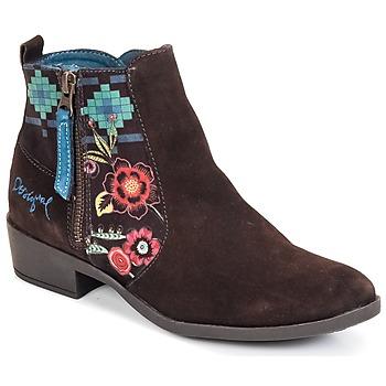 Παπούτσια Γυναίκα Μποτίνια Desigual NATALIA Σοκολά