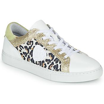 Παπούτσια Γυναίκα Χαμηλά Sneakers Philippe Morvan FURRY Άσπρο / Leopard / Glitter