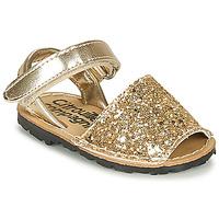 Παπούτσια Κορίτσι Σανδάλια / Πέδιλα Citrouille et Compagnie SQUOUBEL Gold