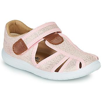 Παπούτσια Κορίτσι Σανδάλια / Πέδιλα Citrouille et Compagnie GUNCAL Ροζ / Μεταλικό