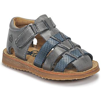 Παπούτσια Αγόρι Σανδάλια / Πέδιλα Citrouille et Compagnie MISTIGRI Grey / Μπλέ