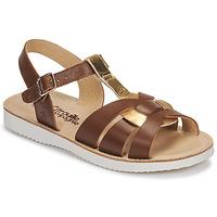 Παπούτσια Κορίτσι Σανδάλια / Πέδιλα Citrouille et Compagnie MINOTTE Brown / Gold