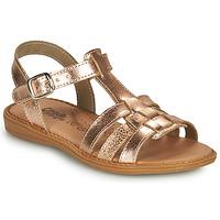 Παπούτσια Κορίτσι Σανδάλια / Πέδιλα Citrouille et Compagnie ROLUI Bronze