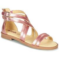 Παπούτσια Κορίτσι Σανδάλια / Πέδιλα Citrouille et Compagnie IMOURAT Ροζ / Χρυσο