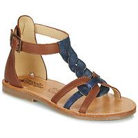 Παπούτσια Κορίτσι Σανδάλια / Πέδιλα Citrouille et Compagnie GITANOLO Marine / Camel