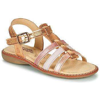 Παπούτσια Κορίτσι Σανδάλια / Πέδιλα Citrouille et Compagnie GROUFLA Gold / Couleurs / μεταλιζέ / Ροζ