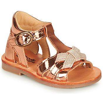 Παπούτσια Κορίτσι Σανδάλια / Πέδιλα Citrouille et Compagnie MINIMOME Bronze