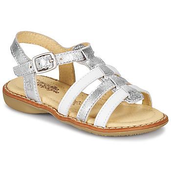 Παπούτσια Κορίτσι Σανδάλια / Πέδιλα Citrouille et Compagnie GROUFLA Silver / Άσπρο