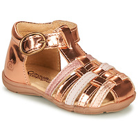 Παπούτσια Κορίτσι Σανδάλια / Πέδιλα Citrouille et Compagnie RINE Ροζ / Μεταλικό