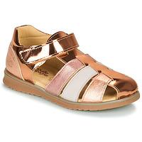 Παπούτσια Κορίτσι Σανδάλια / Πέδιλα Citrouille et Compagnie FRINOUI Bronze / Ροζ