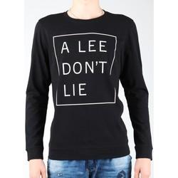 Υφασμάτινα Άνδρας Μπλουζάκια με μακριά μανίκια Lee Don`t Lie Tee LS L65VEQ01 black, white