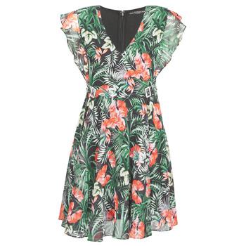 Υφασμάτινα Γυναίκα Κοντά Φορέματα Guess EULALIA DRESS Black / Green