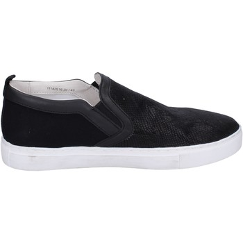 Slip on Crime London slip on pelle tessuto