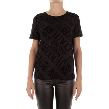 Υφασμάτινα Γυναίκα T-shirt με κοντά μανίκια Versace Jeans Couture B2HUB728 Nero