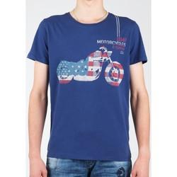 Υφασμάτινα Άνδρας T-shirt με κοντά μανίκια Wrangler S/S Biker Flag Tee W7A53FK 1F navy